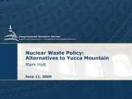 Congressional Research Service Presentation to the U.S. Nuclear ...