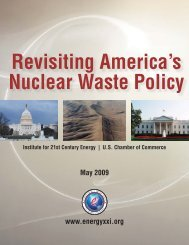 Revisiting America's Nuclear Waste Policy - Institute for 21st Century ...