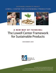 The Lowell Center Framework for Sustainable Products