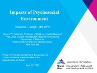 Impacts of Psychosocial Environment