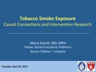 Tobacco: Causal Connections and Intervention Research