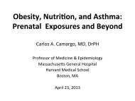 Obesity, NutriTon, and Asthma: Prenatal Exposures and Beyond