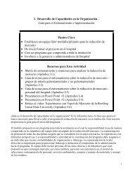 Desarrollo de capacidades en la organización