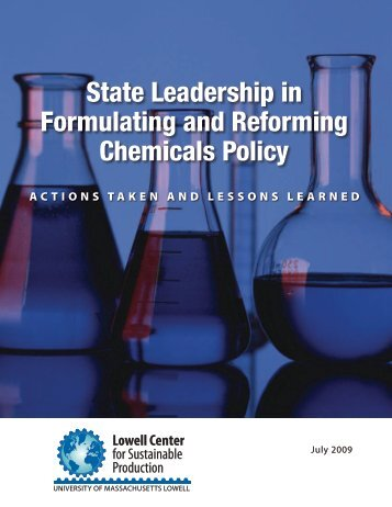 State Leadership in Formulating and Reforming Chemicals Policy