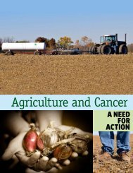 Agriculture and Cancer - Lowell Center for Sustainable Production