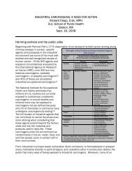 industrial carcinogens - Lowell Center for Sustainable Production