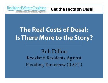 Slide presentation on The Real Cost of Desalination