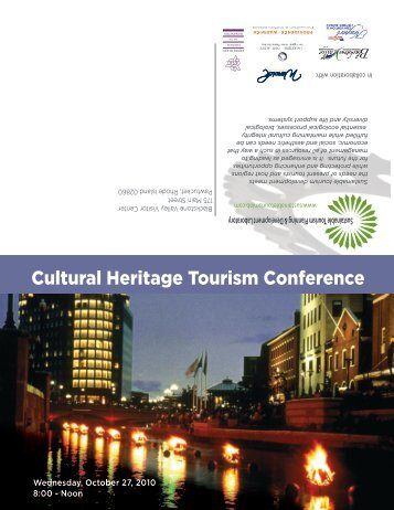 Cultural Heritage Tourism Conference - Sustainable Tourism Lab