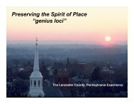 Preserving Our Spirit of Place - Sustainable Tourism Lab