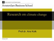 Research on climate change - SusTec