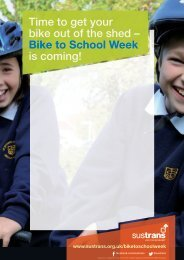 Bike to School template posters - Sustrans