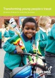 Transforming young people's travel - Sustrans