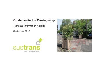 Obstacles in the Carriageway, 2012 - Sustrans