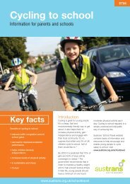 Cycling to school - Sustrans
