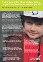 A manifesto for safer communities - welsh language version - Sustrans