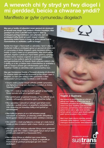 A manifesto for safer communities - welsh language version - Sustrans