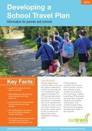 Developing a School Travel Plan ST16 - Sustrans