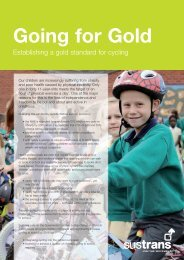 Going for Gold report - Sustrans