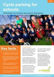 Cycle parking for schools - Sustrans