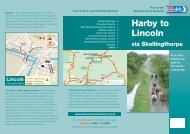 Harby to Lincoln leaflet - Sustrans