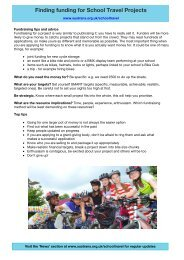 Finding funding for School Travel Projects - Sustrans