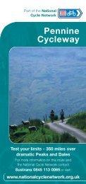 Pennine Cycleway flyer - Sustrans
