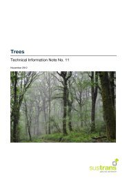 Technical Note 11 - Trees - Sustrans