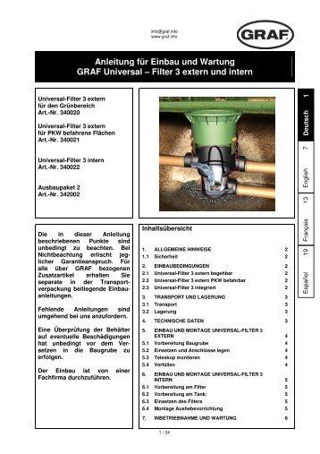 Filter 3 extern und intern - Franz Suter GmbH Pumpen und Systeme