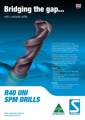 Brochure - Sutton Tools