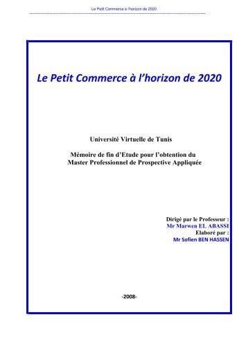 Le Petit Commerce à l'horizon de 2020 - UVT e-doc - Université ...