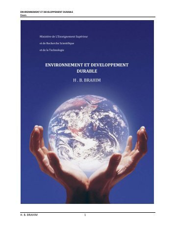 ENVIRONNEMENT ET DEVELOPPEMENT DURABLE - UVT e-doc