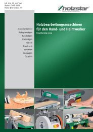 Holzbearbeitungsmaschinen für den Hand - Herm. Fichtner Hof GmbH