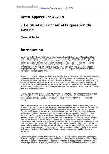 Version PDF - Revues en ligne