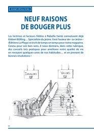 NEUF RAISONS DE BOUGER PLUS Les lectrices ... - Rebelle-Santé