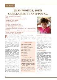 Shampooings, soins capillaires et anti-poux...