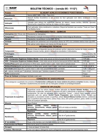 Glasurit Acrílico Econômico Branco - 65 KB - Suvinil
