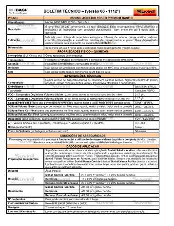 Suvini Acrílico Fosco Premium Base C - Suvinil