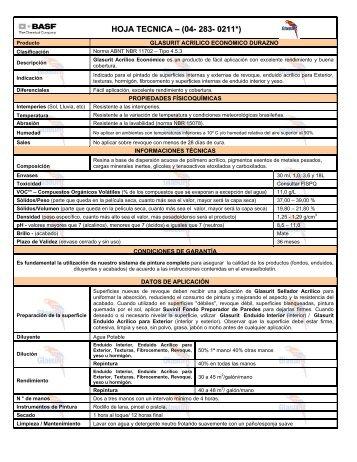 Glasurit Acrílico Económico Durazno - 50 KB - Suvinil