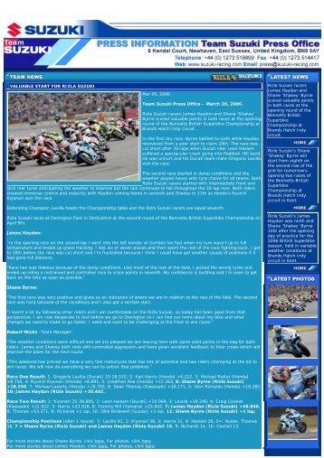 Rizla Suzuki racers - Suzuki Marine