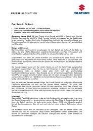 Der Suzuki Splash - Suzuki-presse.de