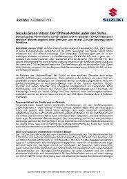 Suzuki Grand Vitara: Der Offroad-Athlet unter ... - Suzuki-presse.de