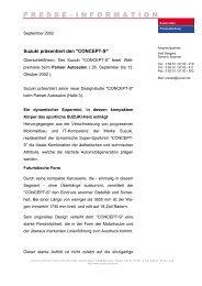 SUZUKI BALENO - - Suzuki-presse.de