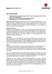 Der neue Suzuki Swift - Einleitung und Highlights - Suzuki-presse.de