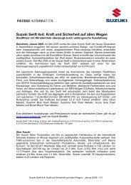 Suzuki Swift 4x4: Kraft und Sicherheit auf allen ... - Suzuki-presse.de