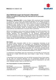 Zwei Beförderungen bei Suzuki in Bensheim - Suzuki-presse.de