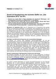 """""""Das Supertalent 2012"""" bei RTL - Suzuki-presse.de"""