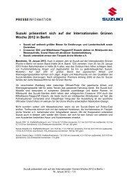 Suzuki präsentiert sich auf der Internationalen ... - Suzuki-presse.de