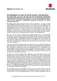 Die Highlights aus über 30 Jahren Suzuki in ... - Suzuki-presse.de