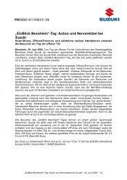 """""""EinBlick Bensheim""""-Tag: Action und ... - Suzuki-presse.de"""