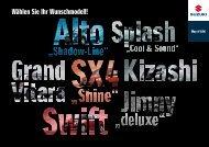 Wählen Sie Ihr Wunschmodell! - Suzuki